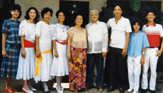 Norma Willis family in Makati, Philippines.